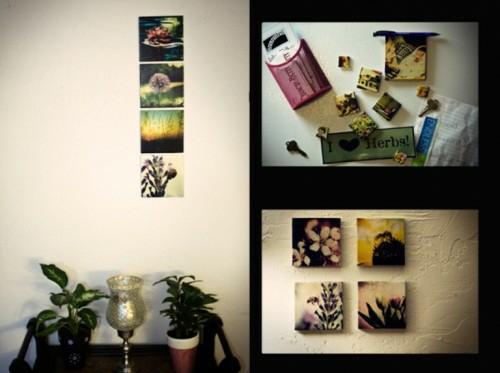 Ausstellung mit Familienfotos rahmen