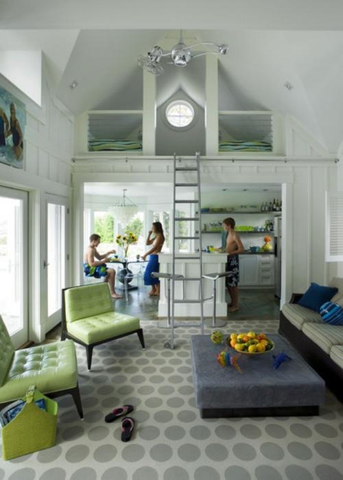 schönes Wohnen im Loft oder Studio leiter küche kompakt