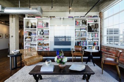 schönes Wohnen im Loft oder Studio wohnzimmer originell einrichtung