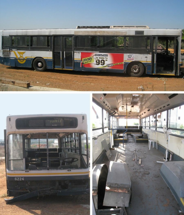 schönes modernes Haus weggeworfen alt bus entwurf baustelle