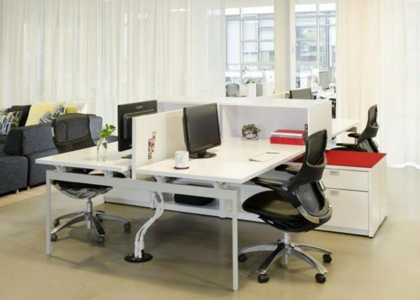 schickes office design einladende arbeitsplätze viel stauraum