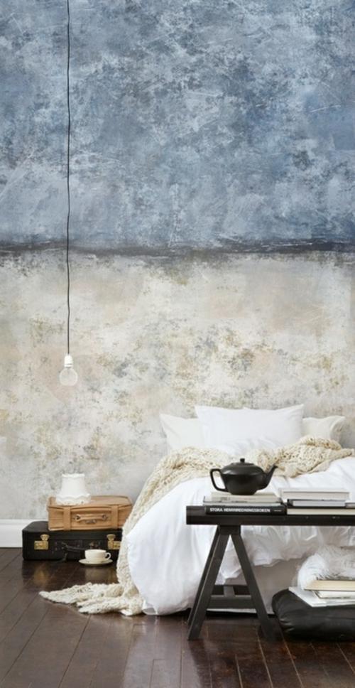 schlafzimmer design klassisch grunge kombo auffallende akzente
