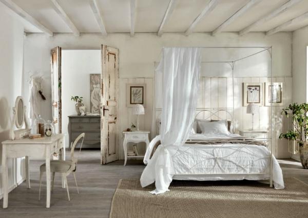 Schlafzimmer designs mit natürlichem flair zarter weißer stoff und