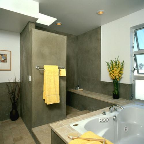 schnelle Renovierung zu Hause badezimmer gelb elemente