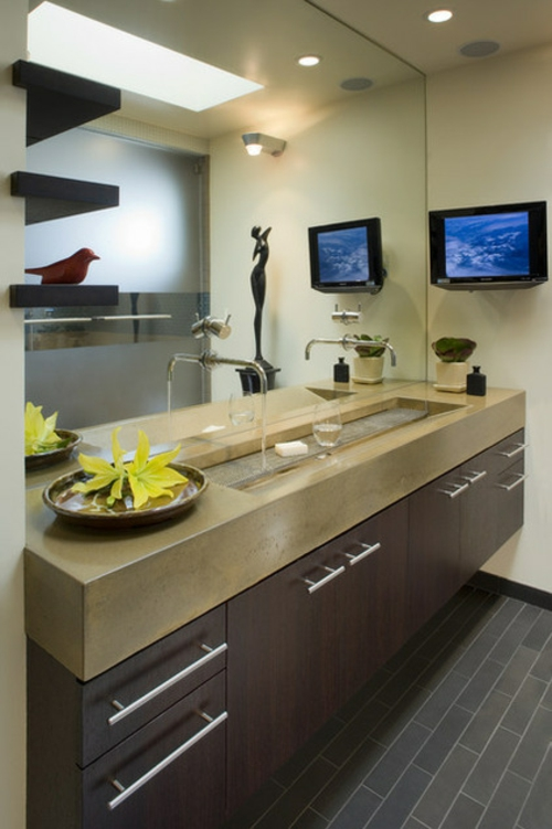 schnelle Renovierung zu Hause badezimmer spiegel waschbecken