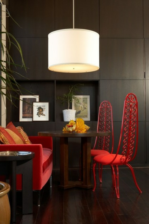 schnelle Renovierung zu Hause lampenschirm tisch stühle