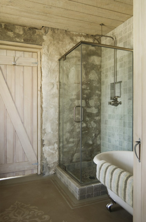schnelle Renovierung zu Hause ziegelwand wanduhr duschkabine ecke