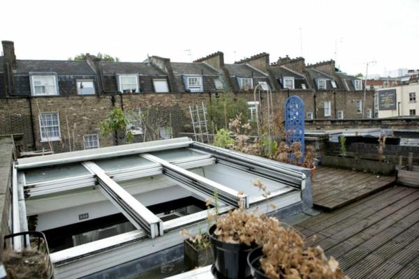 stilvolles londoner appartement dachfenster und frische luft