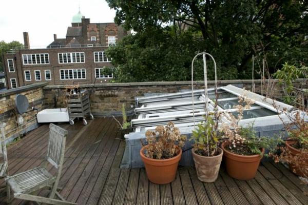stilvolles londoner appartement dachterasse holzdielen