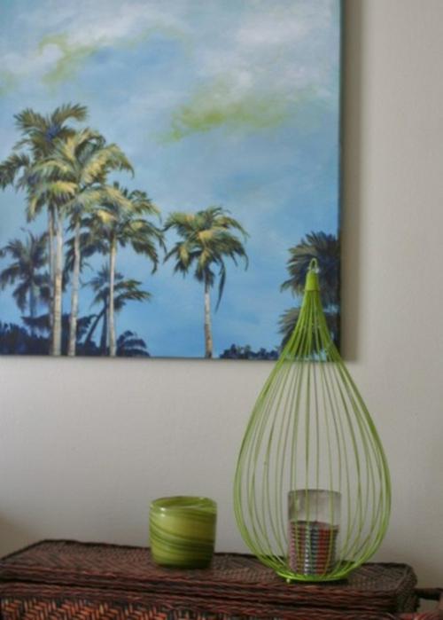 tropisches Ambiente zu Hause wandgestaltung dekoration foto