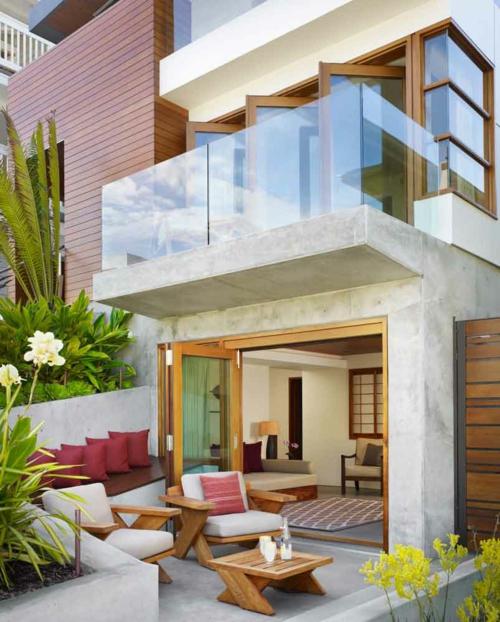 tropisches ambiente zu hause frisch farben außenbereich