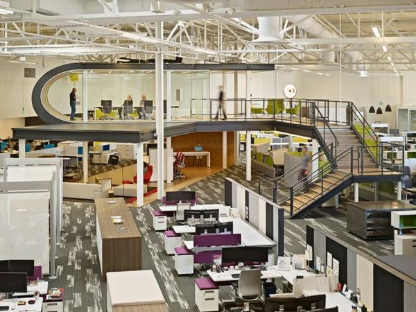 moderne office einrichtung google holzboden
