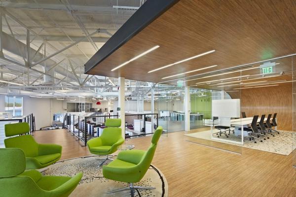 ultra moderne geschäftsstelle neongrüne ergonomische stühle