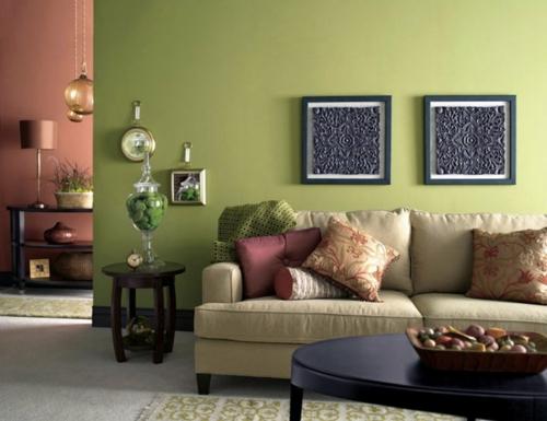 umweltfreundliche Reinigung für Ihr Haus grün wandgestaltung sofa kissen