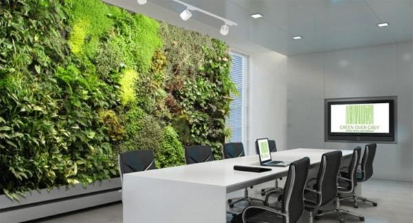 vertikale gärten frisch im besprechungsraum