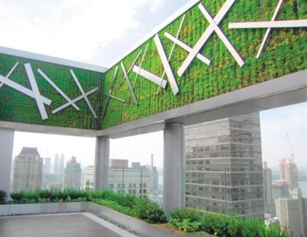 vertikale gärten modernistisch auf dem hochhaus