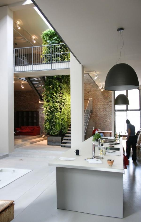 unglaubliche vertikale gärten raumhohe installation