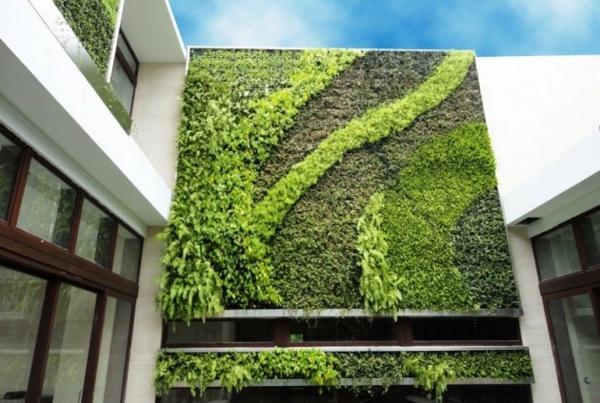 unglaubliche vertikale gärten wellenartige deko