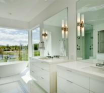 getaucht in farben wei e farbe im badezimmer. Black Bedroom Furniture Sets. Home Design Ideas
