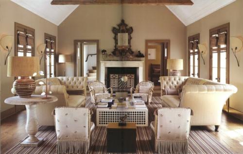 Wohnzimmer Top Designs Offene Deckenbalken Seidenstuhlbezge