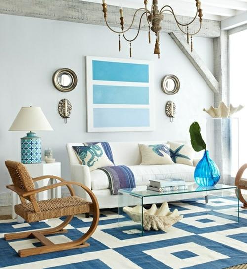 braun grünes wohnzimmer:Beach Theme Living Room Ideas