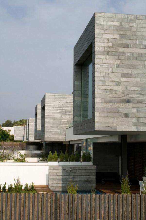 zeitgenössische luxus doppelhäuser elegant in reihen