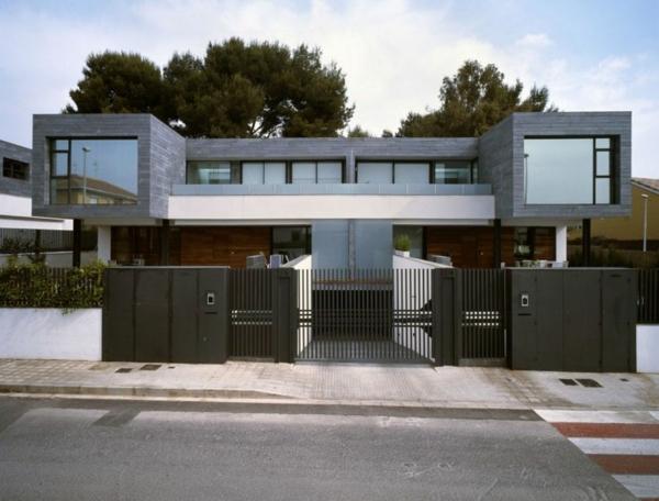 zeitgenössische luxus doppelhäuser rechteckig und modern