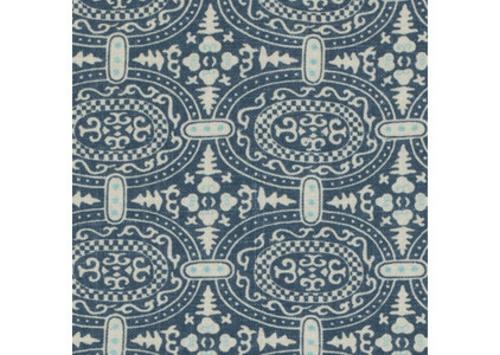 Blau-Weiß gemusterte Dekostoffe blumen übliches design