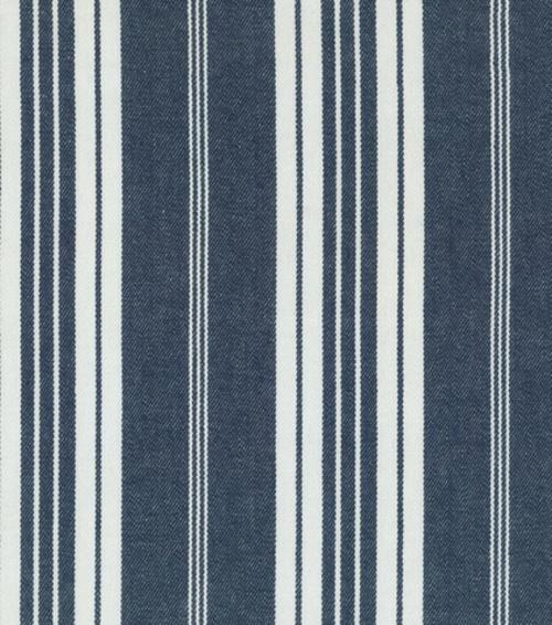 Blau-Weiß gemusterte Dekostoffe blumen dicke dünne streifen