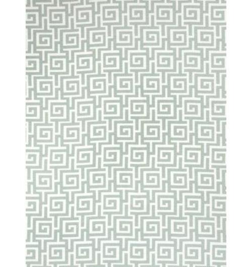 Blau-Weiß gemusterte Dekostoffe blumen geometrisch figuren