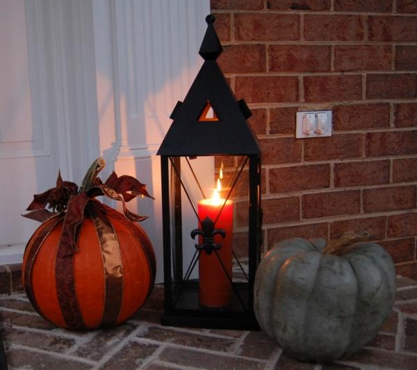 Coole Halloween Deko Ideen kürbisse wohnung fest originell