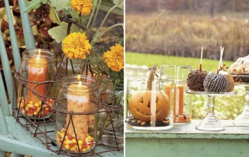Coole Party Dekoration im Garten zu Halloween ideen tischdeko