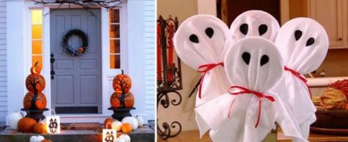 Coole Party Dekoration im Garten zu Halloween selbermachen