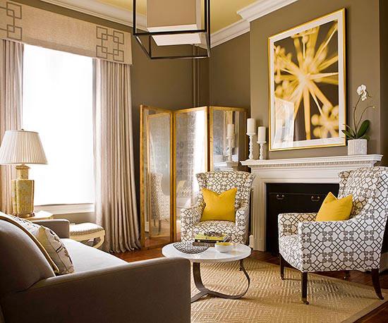 Coole praktische wohnzimmer designs interessante einrichtungsideen - Wohnzimmer gelb ...