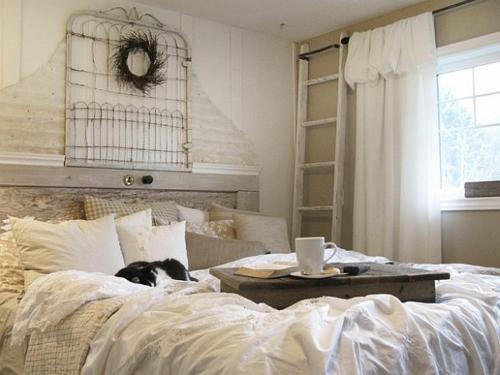 diy vintage kopfteil fr ihr bett selber machen rustikal stil - Doppelbett Kopfteil Diy