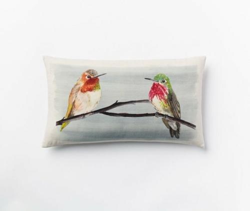 Deko Ideen und Möbel fürs Kinderzimmer wurfkissen vogel naturhaft
