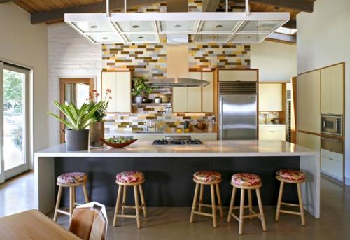 Design und Mode der 70er barhocker niedrig rund küche kühlschrank blumentopf
