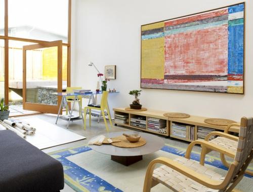 Design und Mode der 70er kleidung idee interieur sideboards regale bücher kaffeetisch
