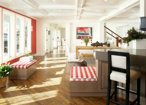 Design und Mode der 70er kleidung wohnbereich galerie muster sitzbank auflage