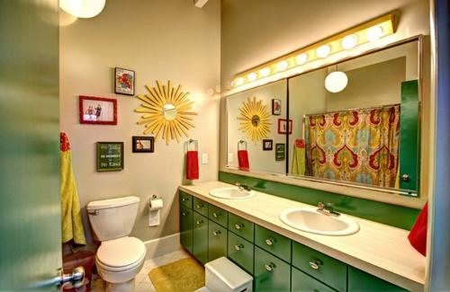 Design und Mode der 70er toilette wand gemälde attraktiv badezimmer waschschrank