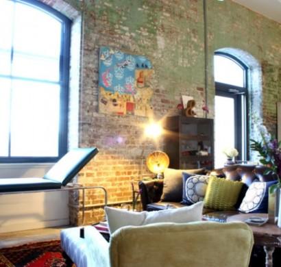 Eklektisches interior design in einer loft wohnung in new for Studium innendesign