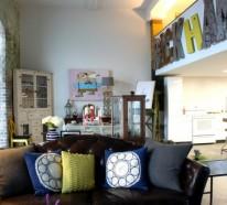 Eklektisches interior design in einer loft wohnung in new for Wohnung design studium