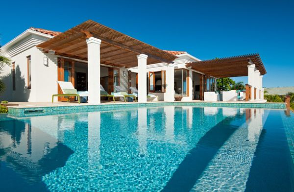 Pergola Design Gestaltung pool sommerhaus