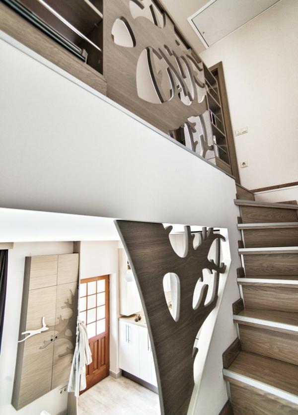 Extravagantes Apartment mit maßgefertigtem Interior Design erdgeschoss tür