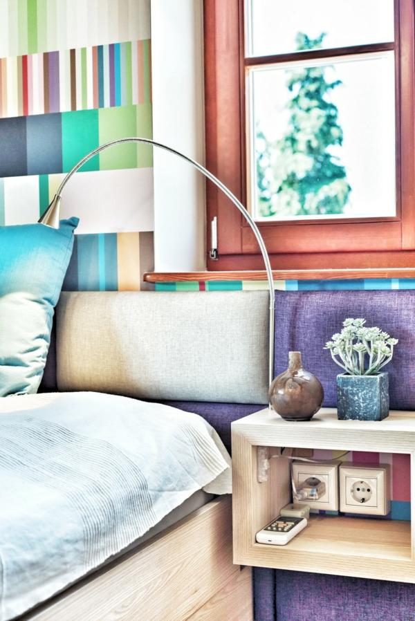 Wohnung mit maßgefertigtem Interior Design nachttisch