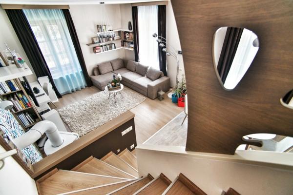 Apartment mit maßgefertigtem Interior Design treppe geländer
