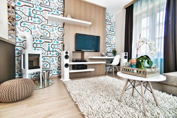 schönes Apartment mit maßgefertigtem Interior Design wohnzimmer