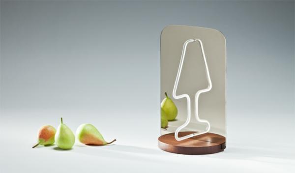 Geniales reflektierendes Tischlampe Design spiegel birnen raffiniert einrichtung