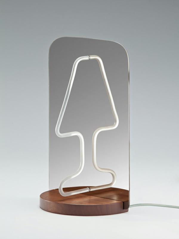 Geniales reflektierendes Tischlampe Design spiegel rohr üblich