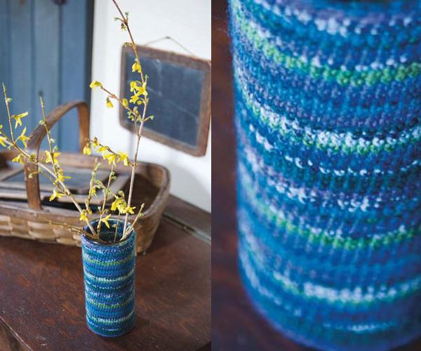 Gestrickte und gehäkelte Dekoration zum Selbermachen vase abdeckung